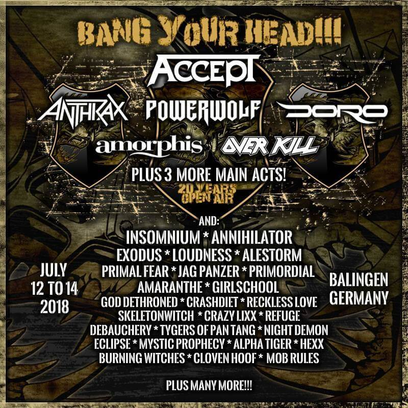 Bang Your Head Festival 2018