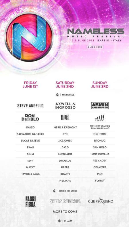 Nameless Festival lineup