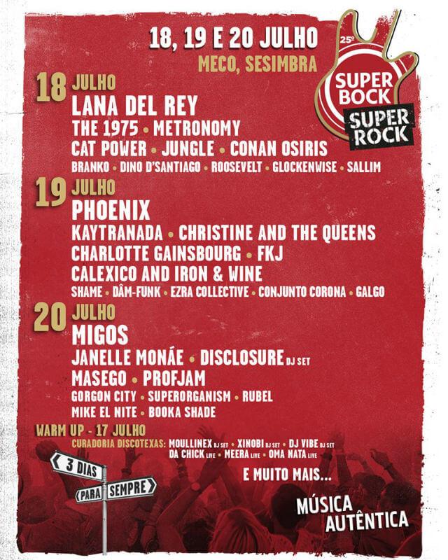 super bock super rock cartaz