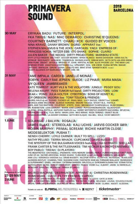 Primavera Sound Festival 2019