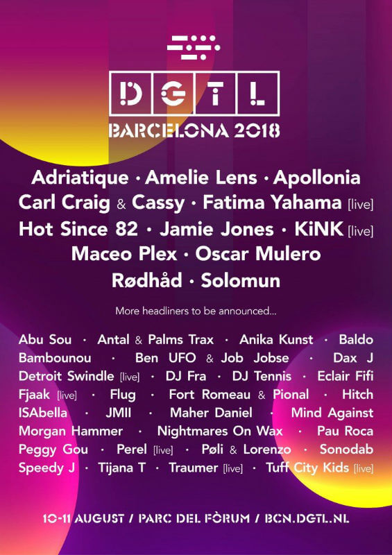 DGTL Festival Barcelona 2018