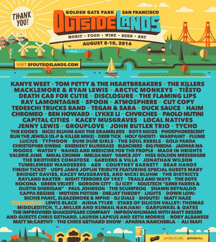 Outside Lands Festival 2014