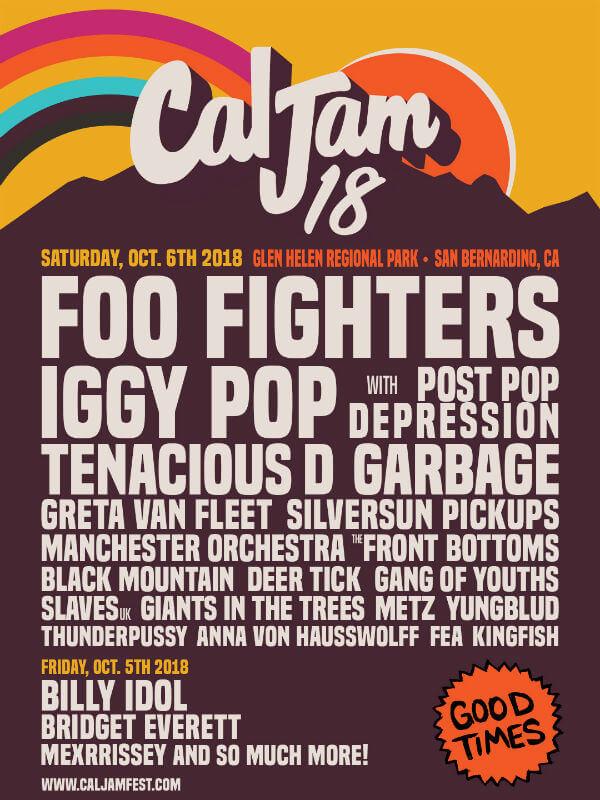 Cal Jam Festival lineup