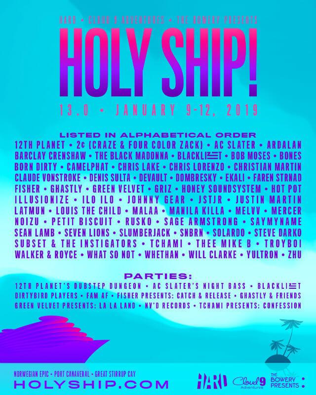Holy Ship festival 2019