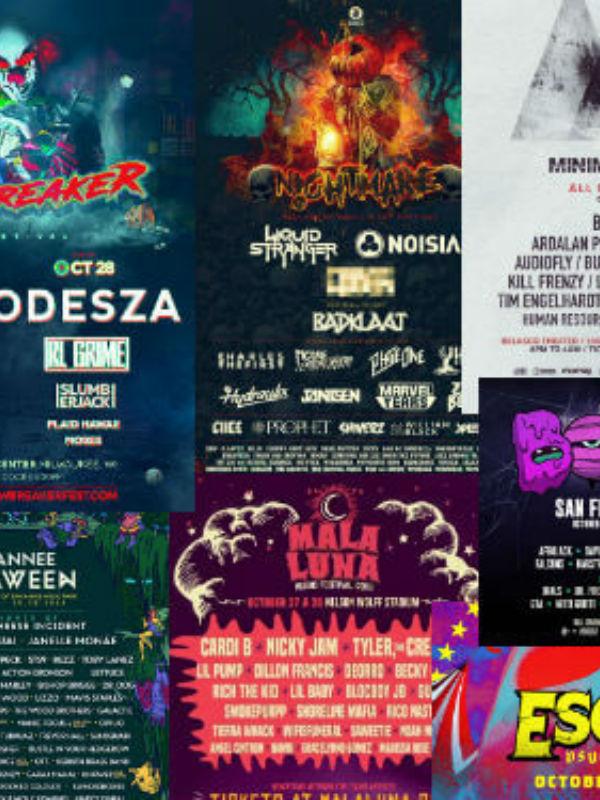 halloween music festivals 2018