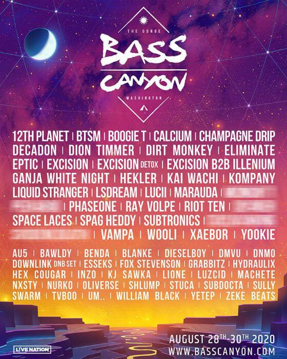 Bass Canyon Festival 2020