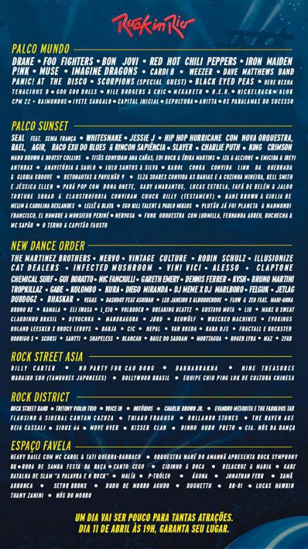 Festival Rock In Rio 2019