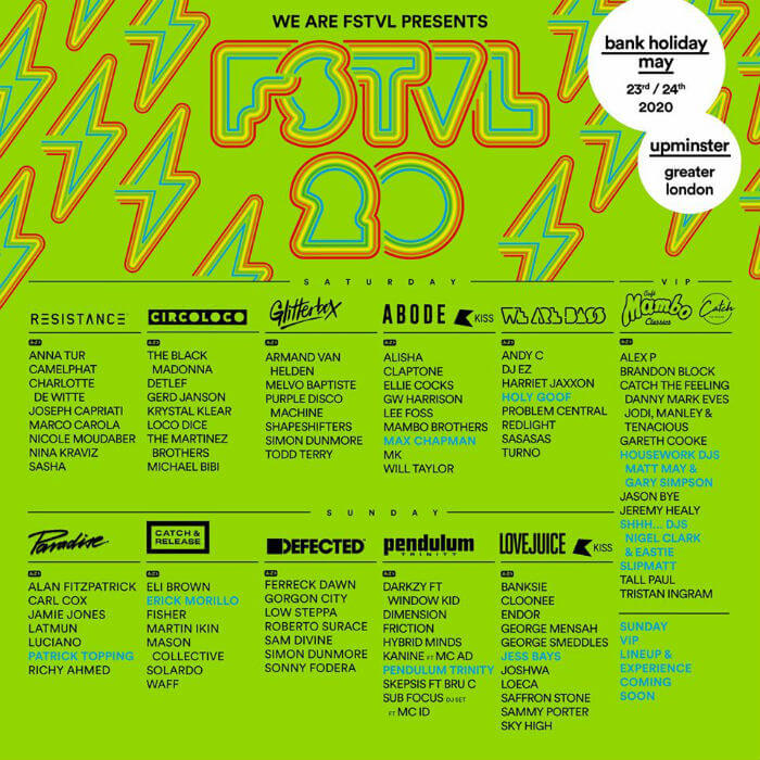 We Are FSTVL 2020 lineup