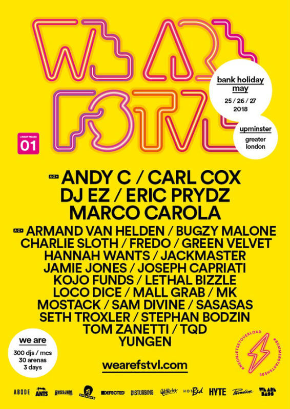 We Are FSTVL 2018 lineup
