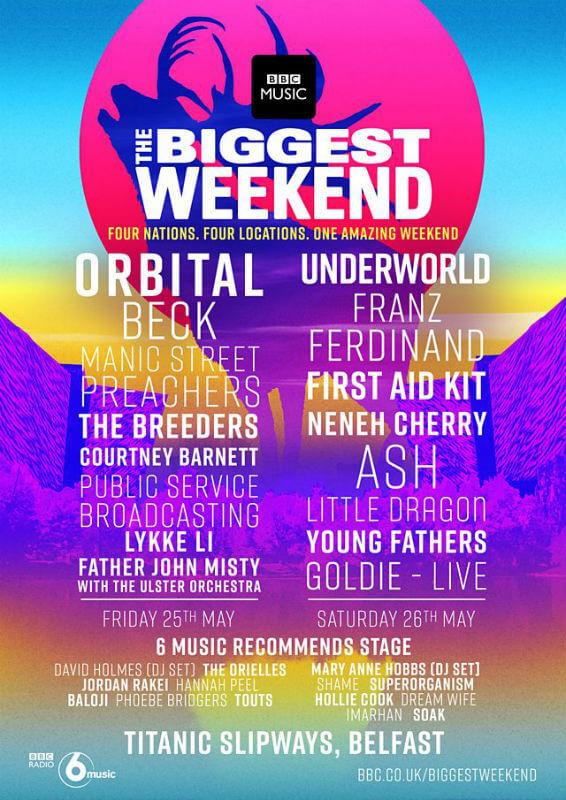 Biggest Weekend Belfast 2018 lineup